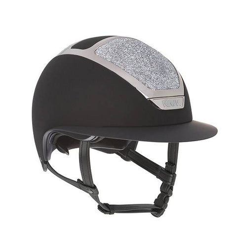 KASK HELMET STAR LADY BLACK SILVER MIDNIGHT SWAROVSKI CRYSTAL
