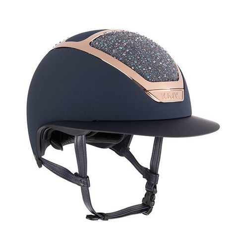 KASK HELMET STAR LADY PARSH NAVY ON THE ROCKS SWAROVSKI CRYSTAL