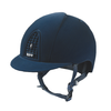 Cromo Navy Velvet Riding Helmet