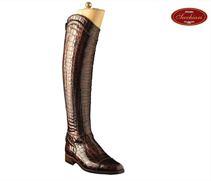 Brown Croc Riding Boots