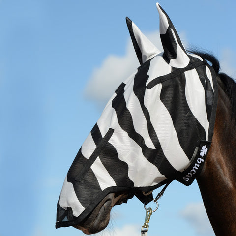Buzz - Off Zebra Full Face Fly Mask