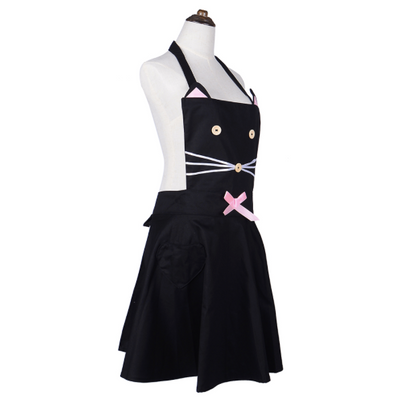 Korean Cute Cartoon Kitty Cat Apron