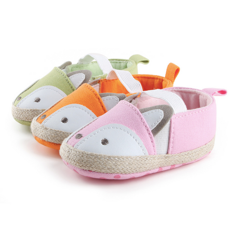 Cute Fox Soft Soled Baby Moccasins/Shoes