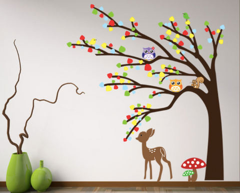 Forest Tree and Animal Wall Sticker/Home Decor