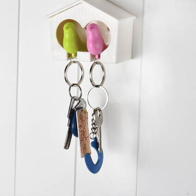 Bird House Key Ring Holder