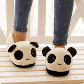 Cute Panda Plush Slippers