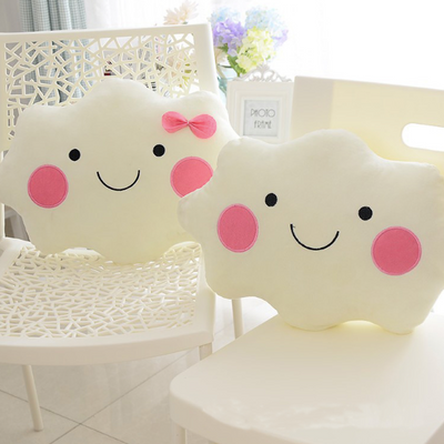 Kawaii Soft Plush Smiley Cloud Cushions