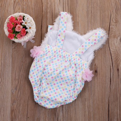 Cute Baby Polka Dot Bear One-Piece