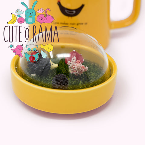 Cute Mug with Micro Landscape Lid