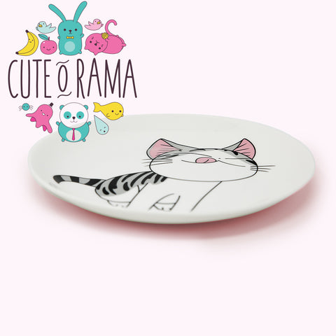 Cute Cartoon Cat Ceramic Plates