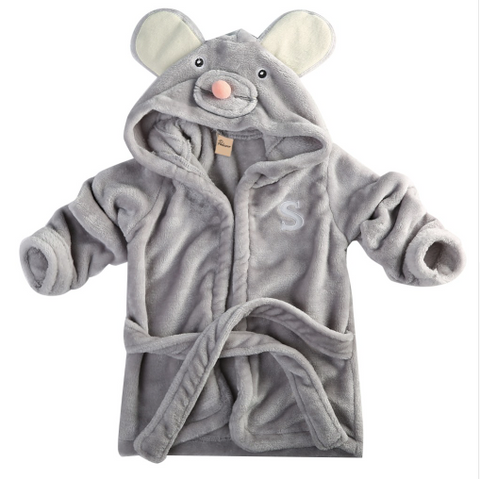 Cute Animal Baby/Toddler Hooded Bathrobe - panda, elephant, rabbit
