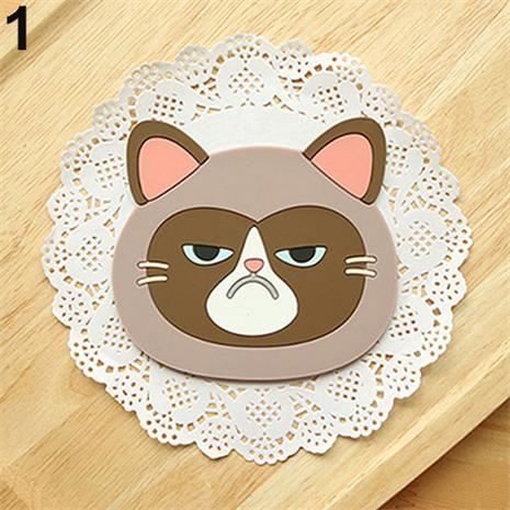 Kawaii Cat Silicone Coasters