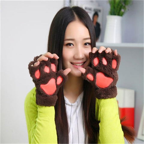 Kawaii Paw Mitten Gloves