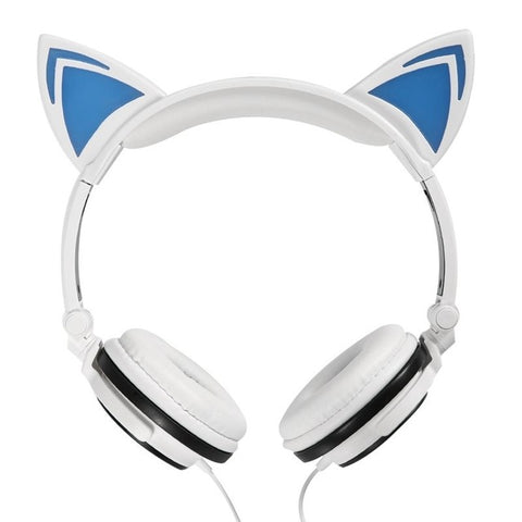 Cute LED Glow Cat Ear Headphones