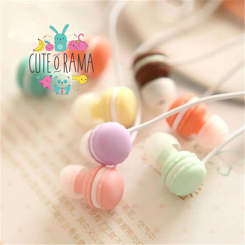 Kawaii In-Ear Macaroon Earphones