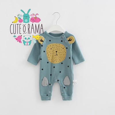 Cute Lion with Ears Baby Romper