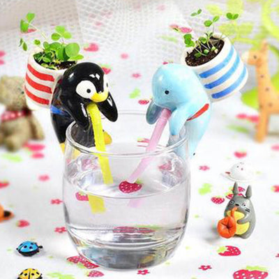Mini Self-Watering Drinking Animal Planter