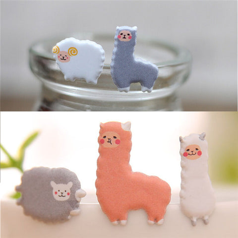 Kawaii 3D Alpaca Stickers
