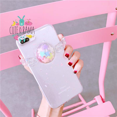 3D Angel Wing Glitter Phone Case