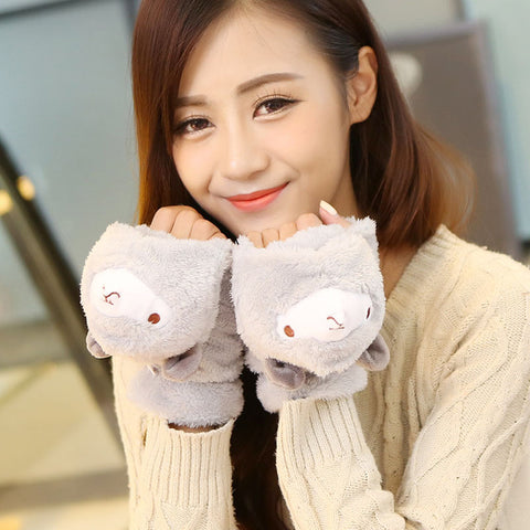 Kawaii Alpaca Mitten Gloves