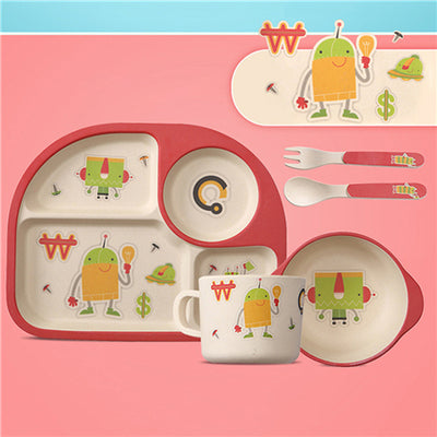 Eco-friendly Five Piece Bamboo Baby Dining Sets