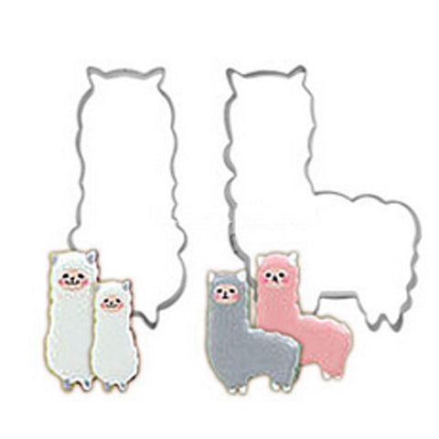 Alpaca Metal Cookie Cutters - two pieces