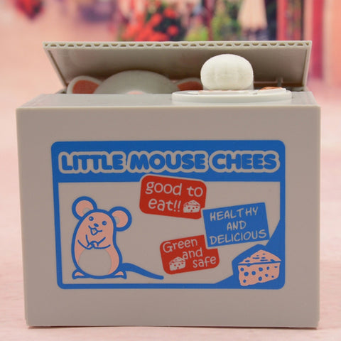 Cat/Mouse/Pig novelty coin stealing money box