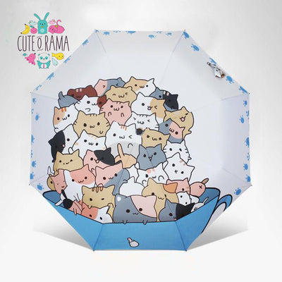 Kawaii Cartoon Cat Umbrella