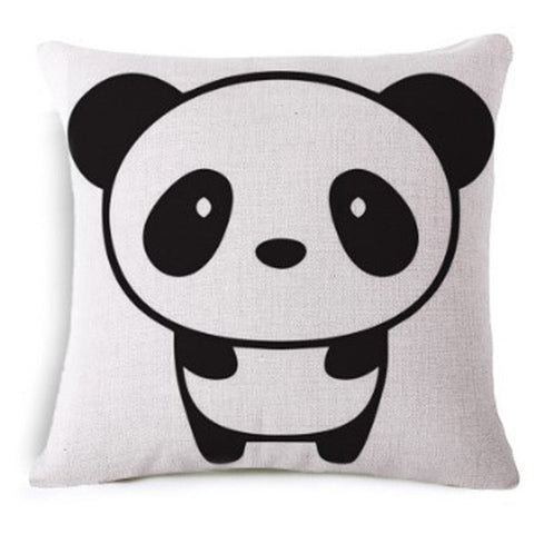 Kawaii Panda Cushion Covers