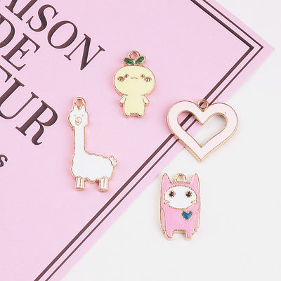 Kawaii Alpaca and Cutie Bracelet Charms