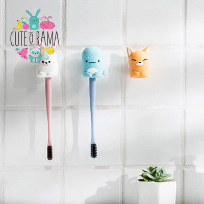 Kawaii Animal Sucker Toothbrush Holder