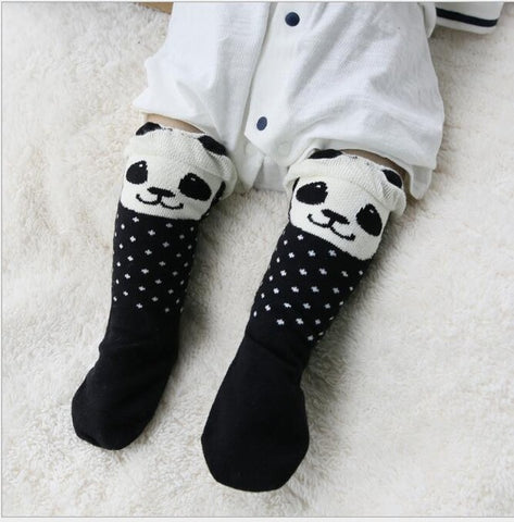 Kawaii Animal Design Baby Long Socks - Panda, Fox or Dolly