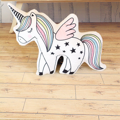 Kawaii Rainbow Unicorn/Cat/Ice cream/Seahorse Pillow
