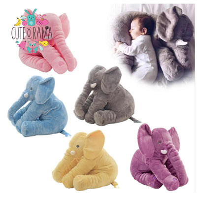 Large Cute Elephant Snuggly Plush Pillow