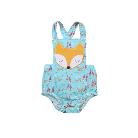 Sleeveless Fox Baby Romper Suit