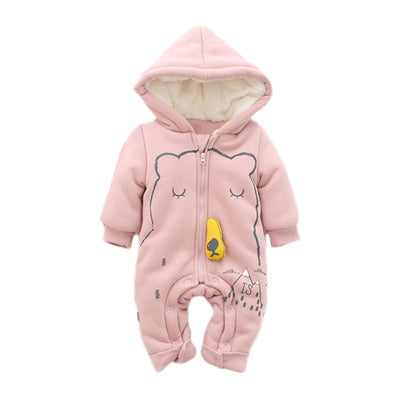 Sleepy Bear Warm Baby Romper Suit