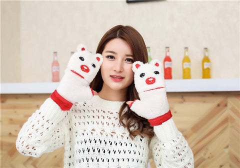 Kawaii Plush Bear Mitten Gloves