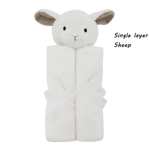 Cute Soothing Plush Animal Baby Blanket/Comforter
