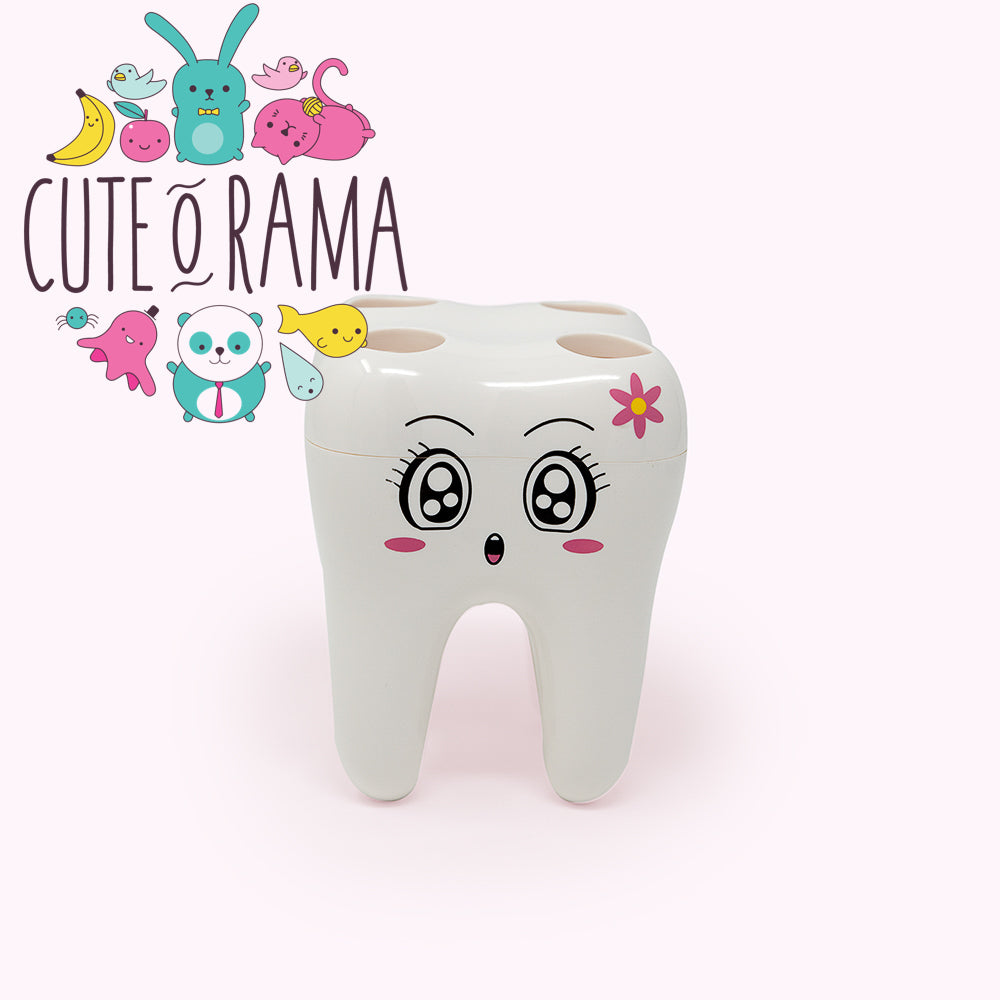 Cute Tooth Design Toothbrush Holder