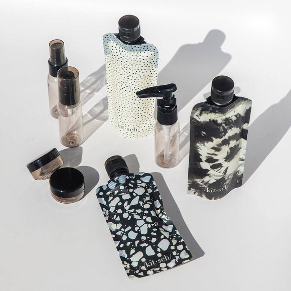 Refillable Ultimate Travel Set - Black & Ivory