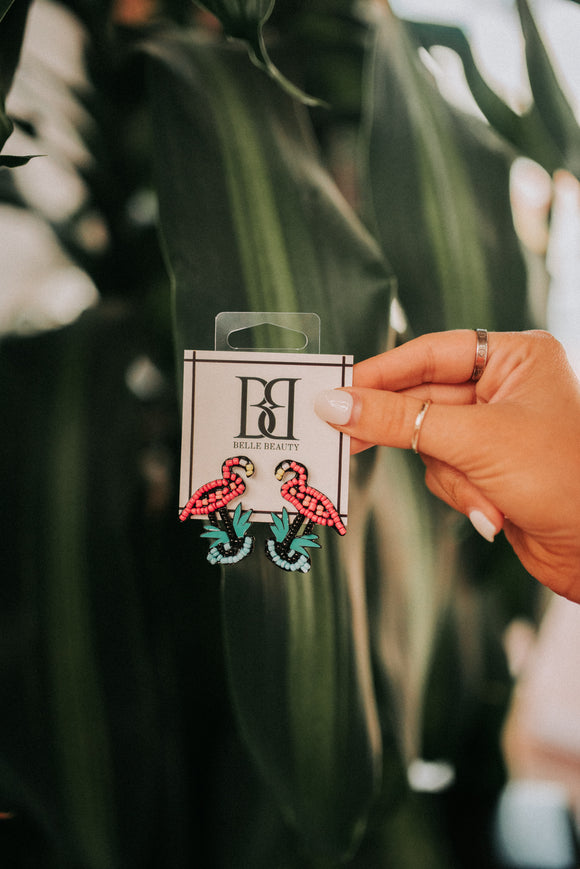 Flamingo Summer Earrings
