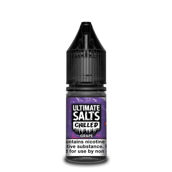 Ultimate Salts Chilled – Grape. A sweet and juicy grape flavour with a wickedly icy and refreshing after taste.
