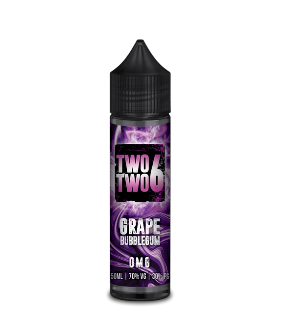 Grape Bubblegum E Liquid By Two Two 6 60ml