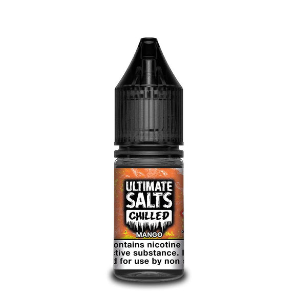 Ultimate Salts Chilled – Mango. Get refreshed on a tropical island with this exotic mango and crushed ice vape.