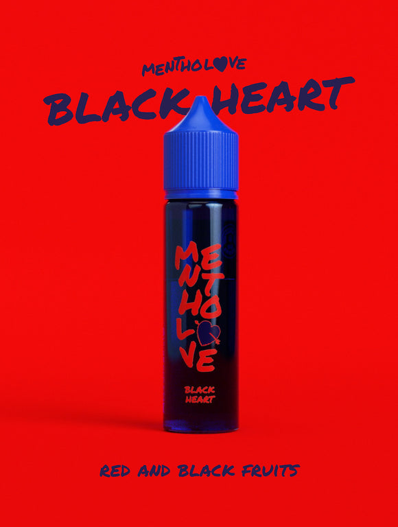 Black Heart Mentholove E-Liquid By Go Bears 60ml Shortfill