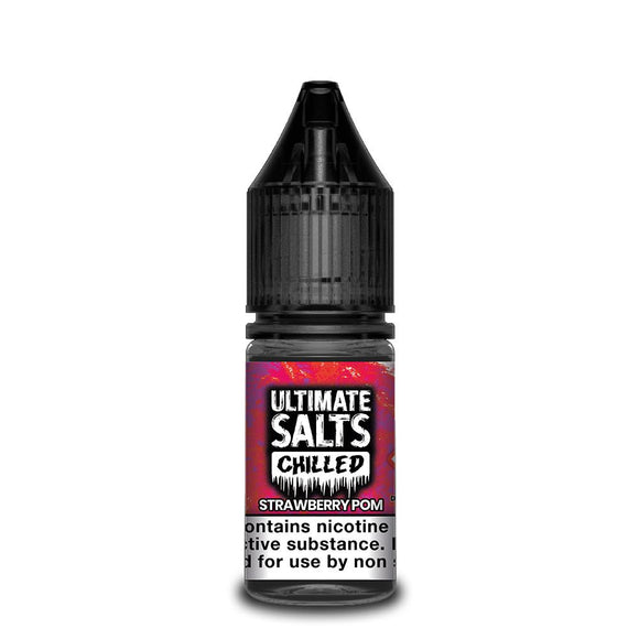 Ultimate Salts Chilled – Strawberry Pom. Tasty Strawberry fused with juice pomegranate with an ice cold finish.