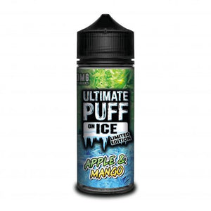 Ultimate Puff On Ice Limited Edition – Apple & Mango – Frozen sweet apple and juicy mango. A super refreshing vape. Available in 0mg and 3mg.