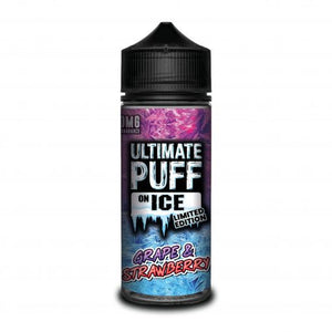 Ultimate Puff On Ice Limited Edition – Grape & Strawberry – This super mouth watering fruity medley of Grape and Sweet Strawberry combined with a super icy cold finish will only make you want more.