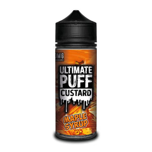 Ultimate Puff Custard – Maple Syrup  Sweet maple syrup infused with vanilla custard leaving a deliciously syrupy taste.