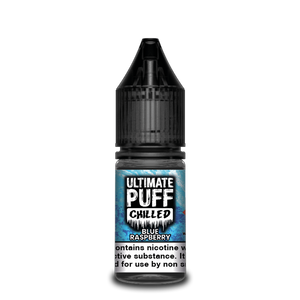 A perfect blue raspberry vape with a cool and crisp bite